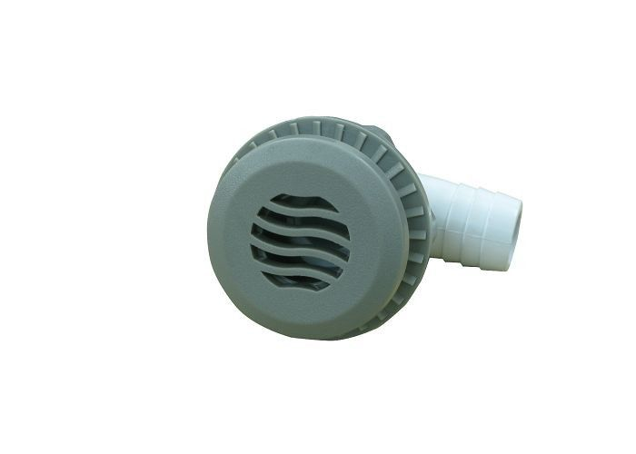 "Socket Shape Hot Tub Suction Low Profile Darin Assembly Shur , Hole Size 3 / 4"" Ribbed Barb"
