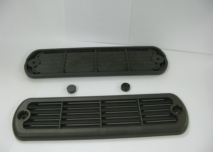 Indoor / Outdoor Spa Heater Plastic Ventilation in Dark Gray CE Standard