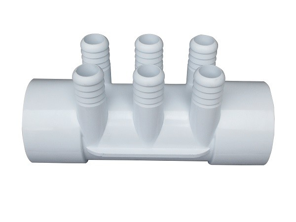 "2 Inch 6 Ports Plastic Water Manifold 3/4"" Barb Water Distributor For Hot Tub Jets"