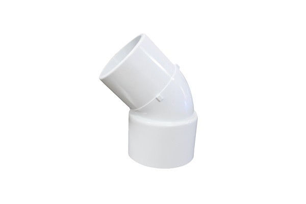 Impact Proof 45 Deg PVC Elbow Fittings High Performance / PVC Tube Fittings